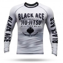 Rash Guard Black Ace BJJ - Branco