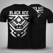 Camiseta Black Ace Fight Is My Game - Preto