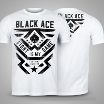 Camiseta Black Ace Fight Is My Game - Branco