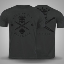 Camiseta Black Ace King Skull - Chumbo