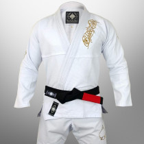 Kimono Black Ace Player Gold - Branco