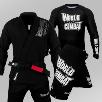 Kit: Kimono World Combat BJJ + Rash Guard World Combat + Bermuda World Combat