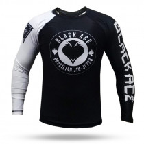 Rash Guard Black Ace Gambler - Preto e Branco