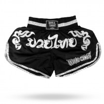 Short Muay Thai World Combat Thailand Style - Preto e Branco