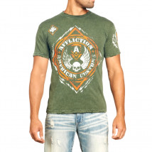 Camiseta Affliction Diamond - Verde