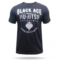 Camiseta Black Ace BJJ - Chumbo