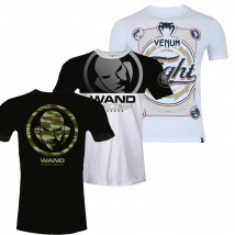 Kit 3 Camisetas: Camiseta Venum Wand Danger + Camiseta Venum Wand Spirit + Camiseta Venum World Wide