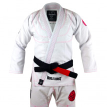 Kimono Feminino World Combat New Let's Roll - Branco e Rosa