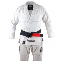 Kimono World Combat New Let's Roll - Branco e Preto