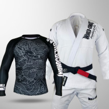 Kit: Kimono World Combat BJJ + Rash Guard World Combat