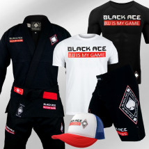 Kit Black Ace BJJ Is My Game: Kimono + Rash Guard + Bermuda + Camiseta + Boné