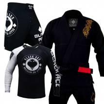 Kit: Kimono Black Ace Player + Bermuda Black Ace + Rash Black Ace