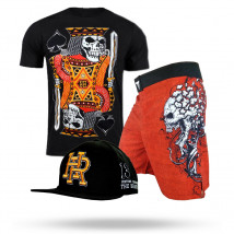 Kit: Bermuda Throwdown Explode + Camisa Black Ace + Boné Headrush