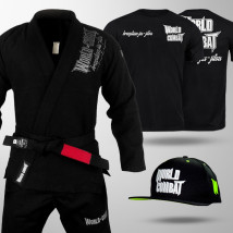 Kit: Kimono World Combat BJJ + Boné World Combat + Camiseta World Combat