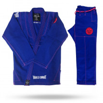 Kimono Feminino World Combat New Let's Roll - Azul e Rosa