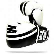 Luva World Combat Sport Training - Preto e Branco