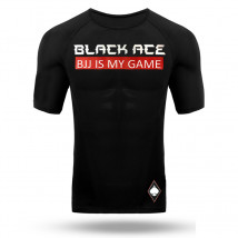 Rash Guard Black Ace Bjj is My Game Manga Curta - Preta