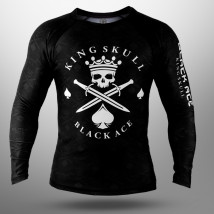 Rash Guard Black Ace King Skull - Preto