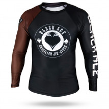 Rash Guard Black Ace Gambler - Preto e Marrom