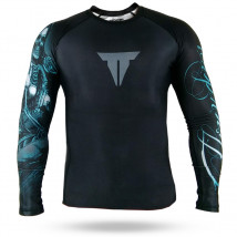 Rash Guard Throwdown R.S. Bones - Preto