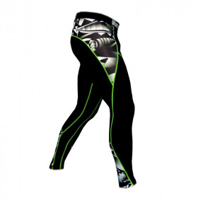 Calça de Compressão World Combat Maori - Black Green