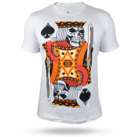 Camiseta Black Ace The King of Gamble - Branca