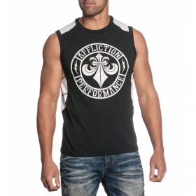 Regata Affliction CORE SPEC SLEEVELESS - Preto e Branco