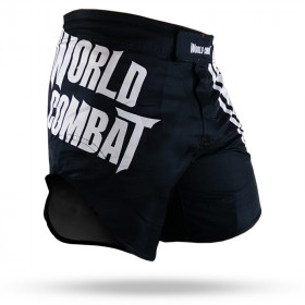 Fight Short World Combat  - Preto e Branco