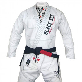 Kimono Black Ace Just Fight - Branco