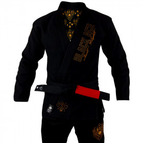 Kimono Black Ace Just Fight - Gold
