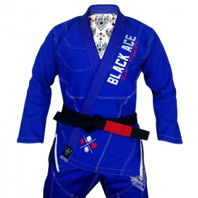 Kimono Black Ace Just Fight - Azul