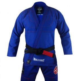 Kimono World Combat New Let's Roll - Blue Red
