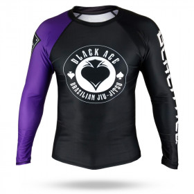 Rash Guard Black Ace Gambler - Preto e Roxo