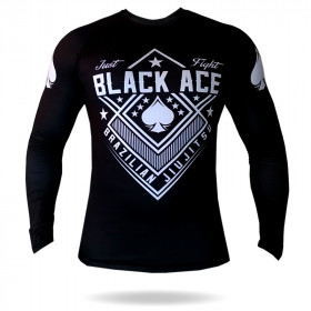 Rash Guard Black Ace Just Fight - Preto