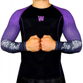 Rash Guard World Combat Let's Roll - Purple Belt