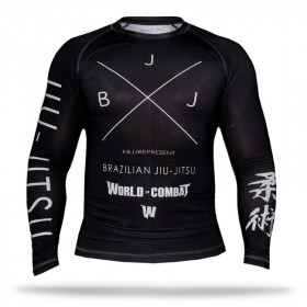 Rash Guard World Combat BJJ - Black