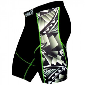 Short Fight World Combat Maori - Black Green